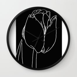 Negative Tulip Wall Clock