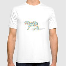 Technicolor Jaguar Mens Fitted Tee MEDIUM White