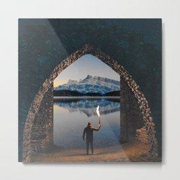portal to the lake Metal Print