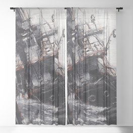 All Hands On Deck Sheer Curtain