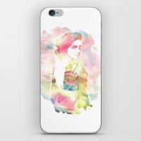 emma watson iPhone & iPod Skins featuring Emma Watson Watercolor by nicole lianne