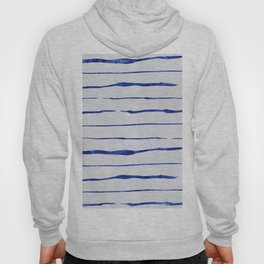 Blue Wiggly Stripes Pattern Hoody