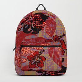 On Fire Kona Tropical Floral Backpack