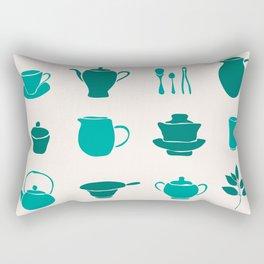 Chinese Tea Ceremony Rectangular Pillow