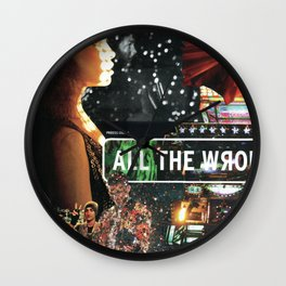 All The Wrong Places Wall Clock