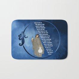 Jesus of Nazareth the Good Shepherd Bath Mat