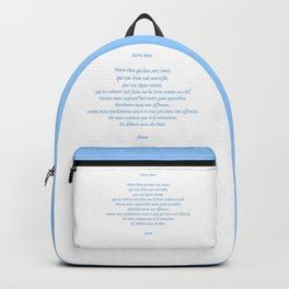 Notre Père Backpack