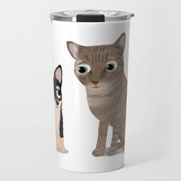 "Custom Artwork, ""Max and Creeps"" Travel Mug"