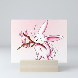 Bunny Blossoms Mini Art Print