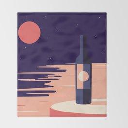 Moonlight + Wine Throw Blanket