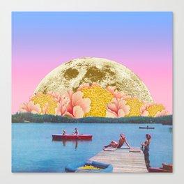 Pink lake Canvas Print
