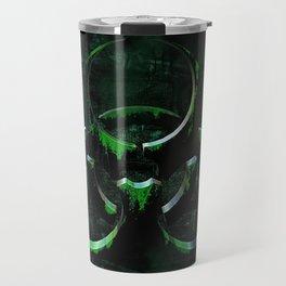 Green Grunge Biohazard Symbol Travel Mug