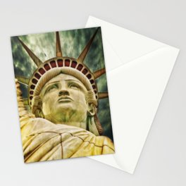 Liberty statue Stationery Cards