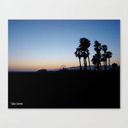 Santa Monica Pier California Canvas Print