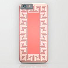 Greek Key coral Slim Case iPhone 6s