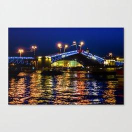 Raising bridges in St. Petersburg Canvas Print