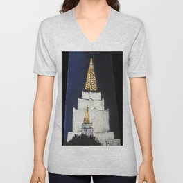 Oakland LDS Temple Tie Unisex V-Neck