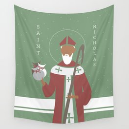 St. Nicholas Icon Wall Tapestry