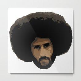 Colin Kaepernick Afro Metal Print