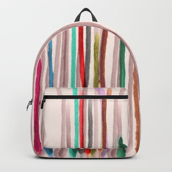 Rainbow Seeds Sprouts Circle of Life Flowers Backpack
