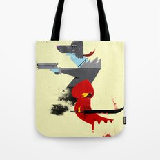 Red Hood & The Badass Wolf Redux Tote Bag
