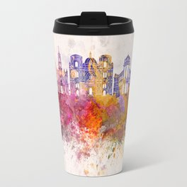 Cuenca EC skyline in watercolor background Travel Mug