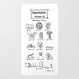 Hannibal - Season 2: Bloodless Edition! Art Print