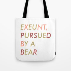 Shakespeare - The Winter's Tale - Exeunt Exit Pursued by a Bear Tote Bag