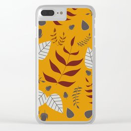 Autumn leafs and acorns Clear iPhone Case