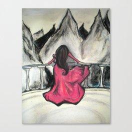 On the Ledge Canvas Print