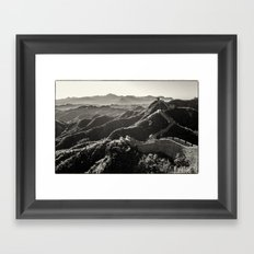 Great Wall of China Framed Art Print