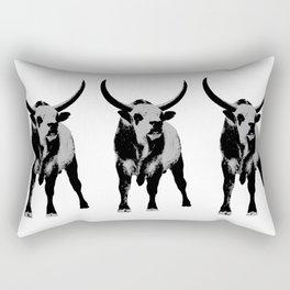 Bulls op art Rectangular Pillow