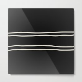 Double x Double Contrasting Lines Metal Print