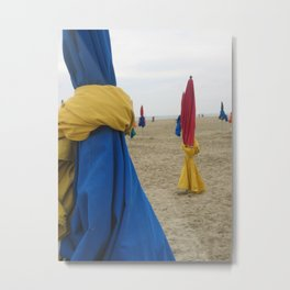 Parasols in Deauville, France (2008e) Metal Print