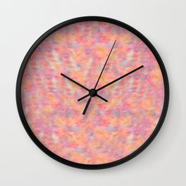 Abstract Watercolor Cat Lovers Typography Wall Clock