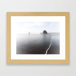 Cannon Beach Breaking Waves Framed Art Print