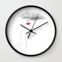 Clouded levres Wall Clock