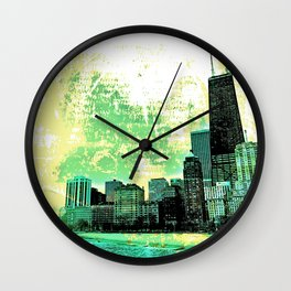 Chicago - The Windy City Wall Clock