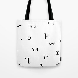 Flowery typography Tote Bag