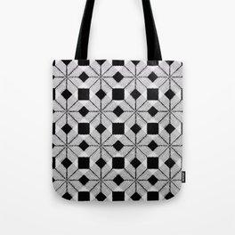 Silver Snow, Snowflakes #01 Tote Bag