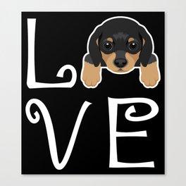 Dachshund Love Canvas Print
