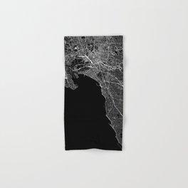 Melbourne Black Map Hand & Bath Towel