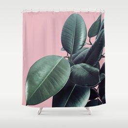 Ficus Elastica #14 #CoralBlush #decor #art #society6 Shower Curtain