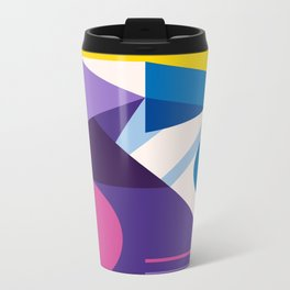Abstract modern geometric background. Composition 10 Metal Travel Mug