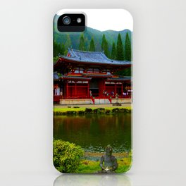 Temple Valley Buddah ... By LadyShalene iPhone Case