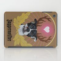 pitbull iPad Cases featuring Jaggermeister - pitbull by PaperTigress