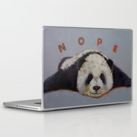 nope Laptop & iPad Skins featuring Nope by Michael Creese