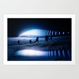 blinded by the lights Art Print