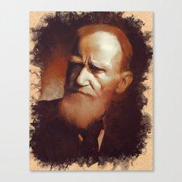George Bernard Shaw, Playwright Canvas Print