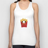 potato Tank Tops featuring potato chips by Raimondo Tafuri